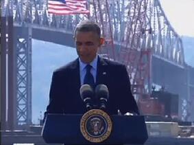 obama tappan zee bridge